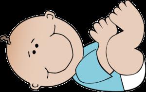 赤ちゃん、オムツ替え