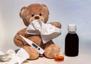 風邪、鼻水、熱