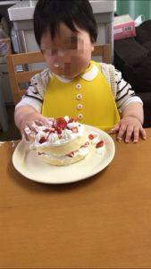 誕生日ケーキ、手作り