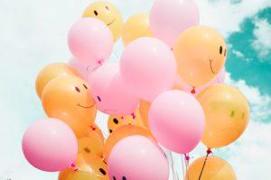 幸せ、幸福、風船